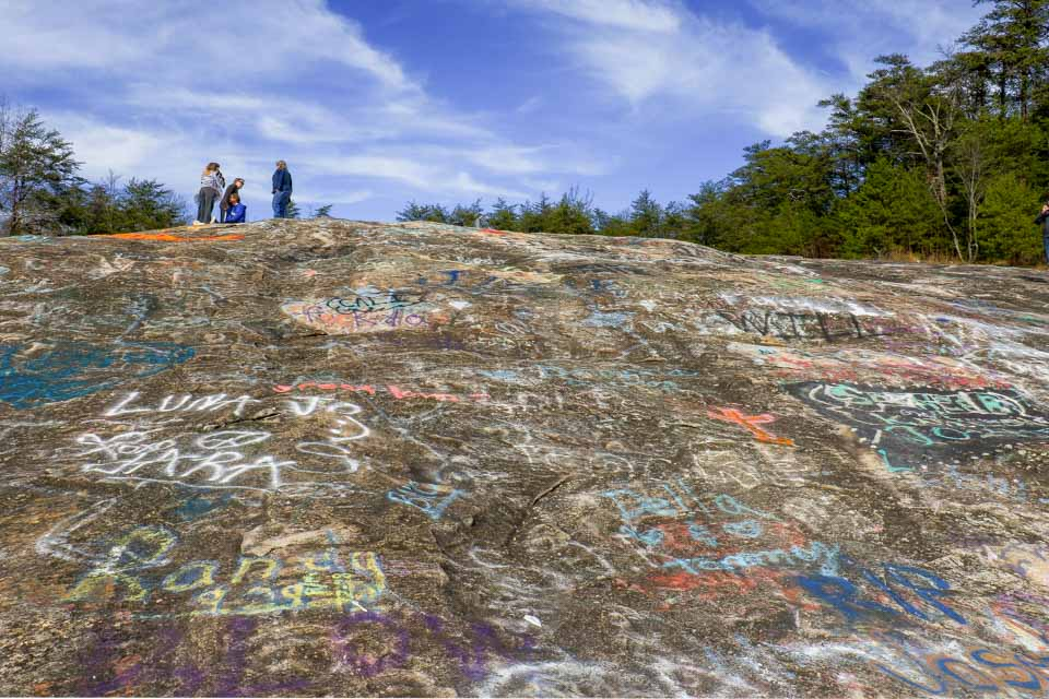 Graffiti is a Problem at Bald Rock!
