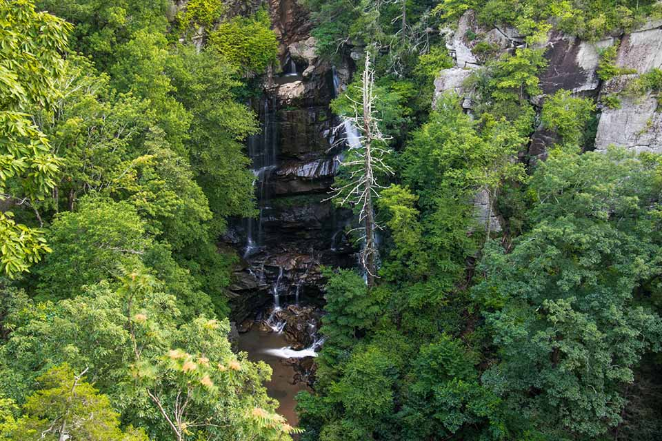 The View of Big Bradley Falls from the Overlook