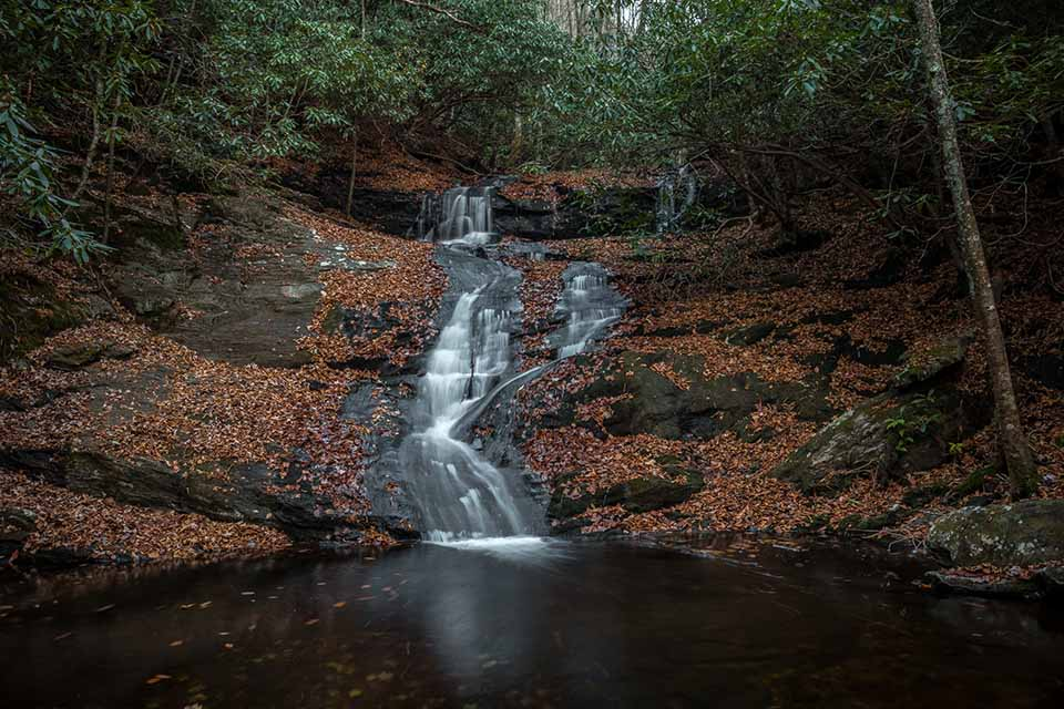 Big Laurel Falls With Normal Flow