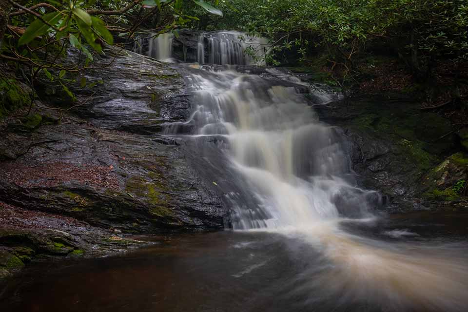 Big Laurel Falls With Heavy Flow