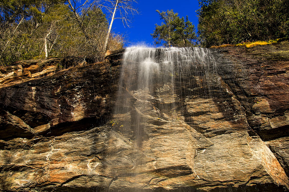 Bridal Veil Falls Near Highlands North Carolina