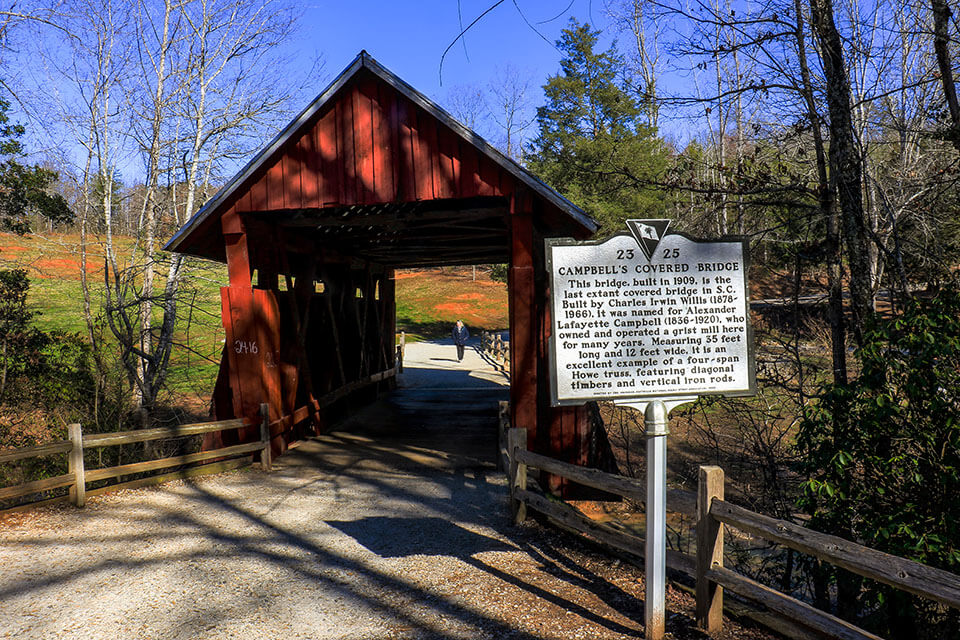 The Front of Campbell's Covered Bridge