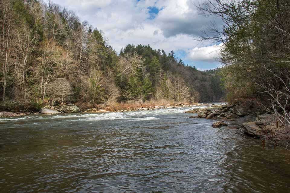 The View of the Chattooga River from Long Creek