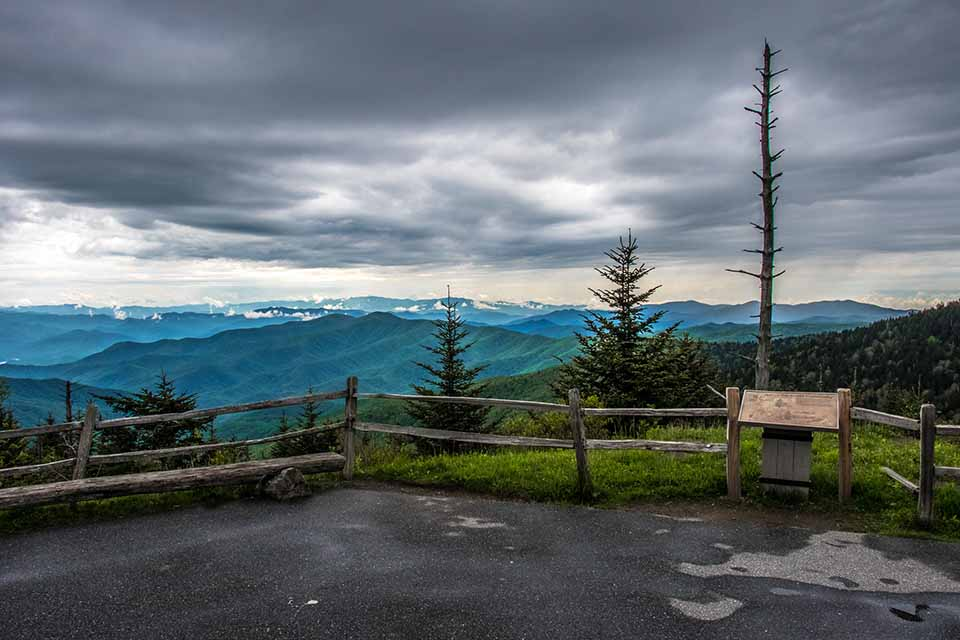 View at Clingmans Dome Before Hike to Top