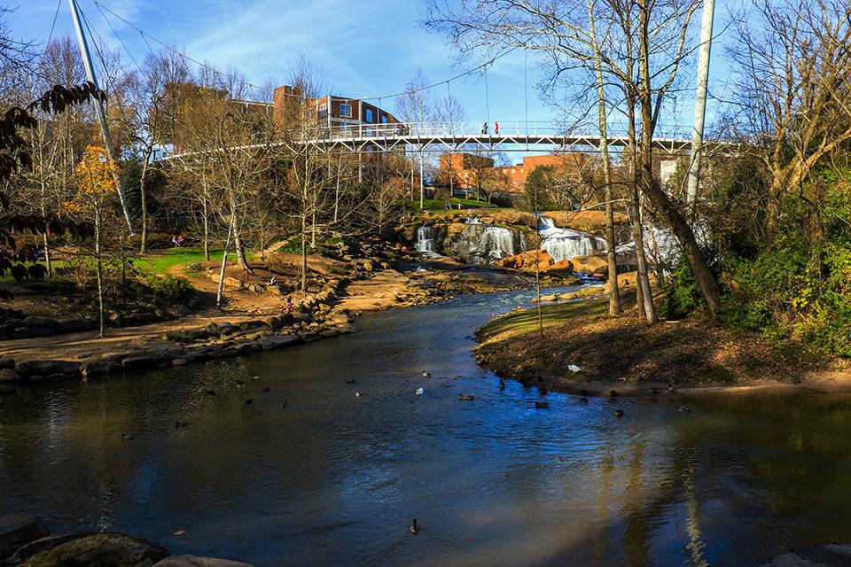 Liberty Bridge from Downstream
