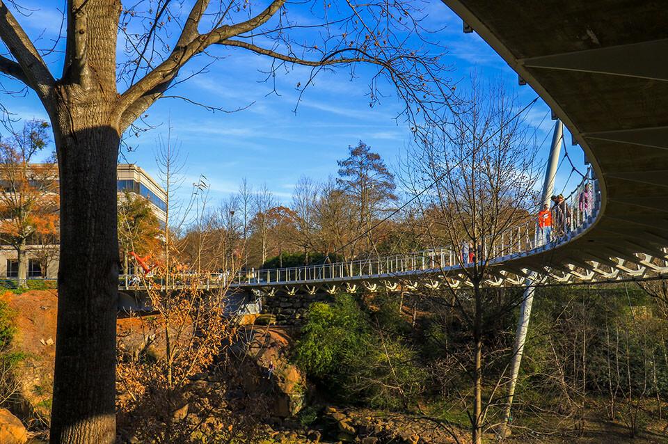 The Liberty Bridge at Falls Park