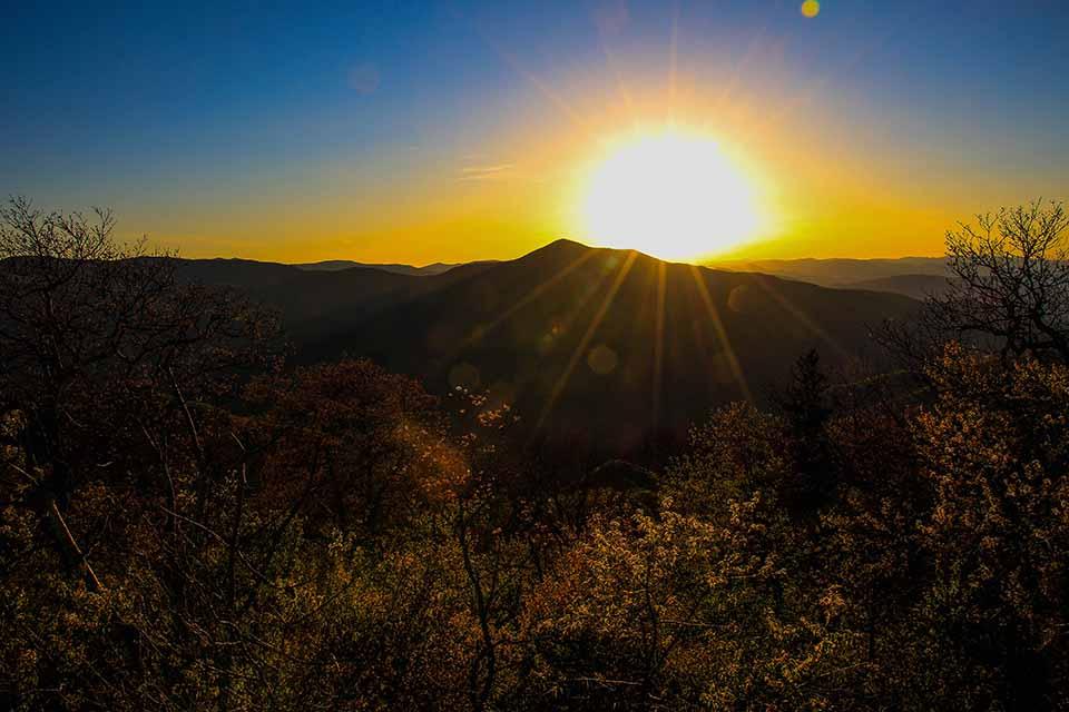 Sunset at Fryingpan Lookout Tower