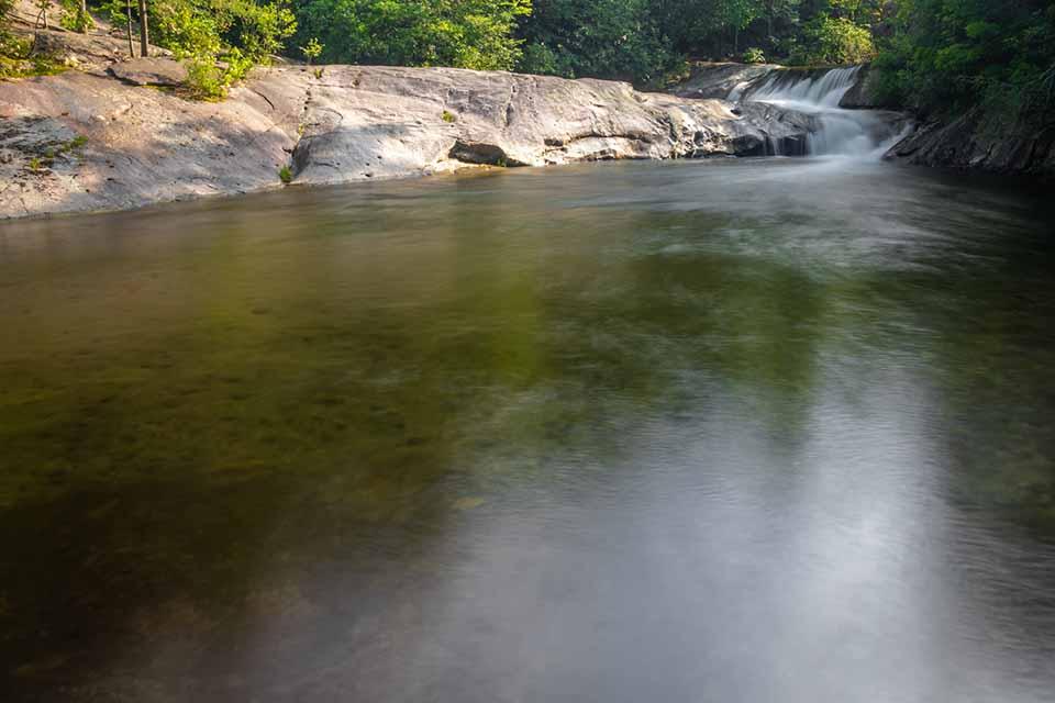 The Large Swimming Hole Below Hunt Fish Falls