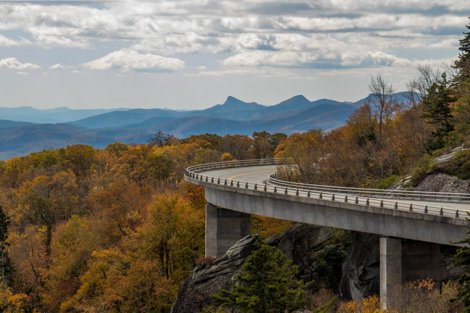 Fall at the Linn Cove Viaduct