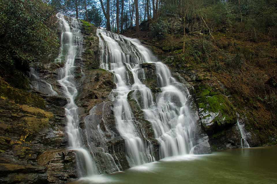 Large Viewing Area at Little Brasstown Falls