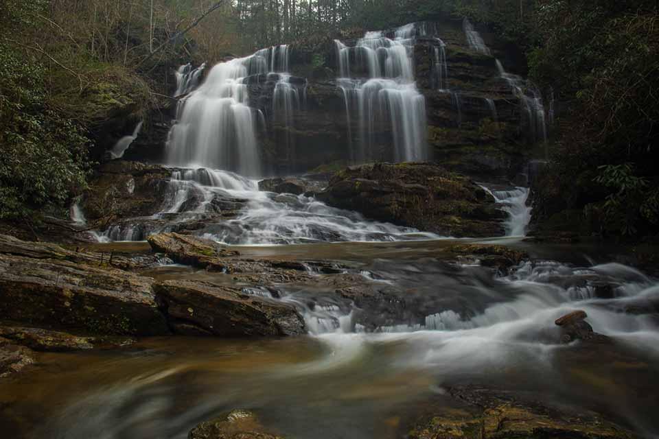Long Creek Falls from the Creek