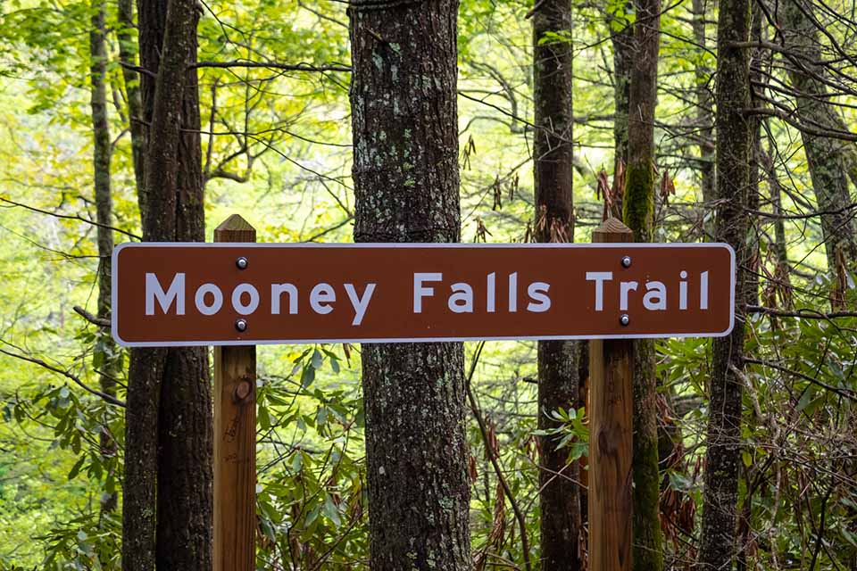 Mooney Falls Road Sign