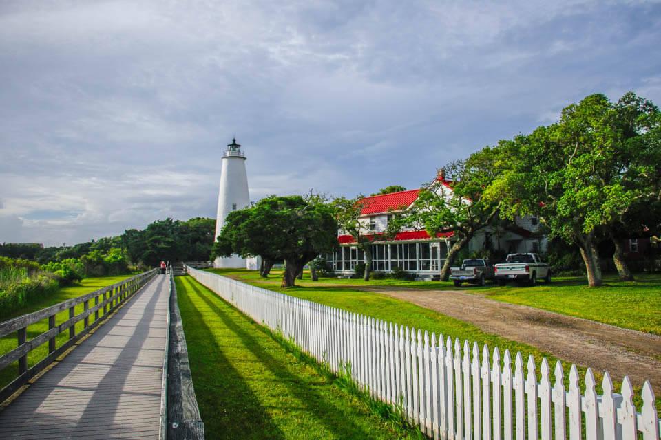 Ocracoke Lighthouse walkway