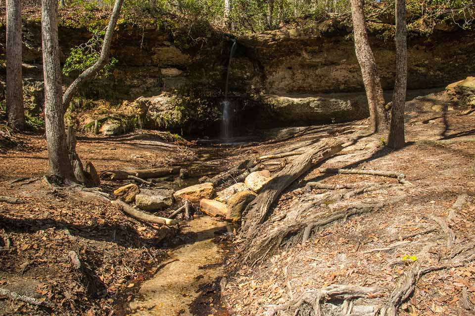 The Waterfall at Peachtree Rock