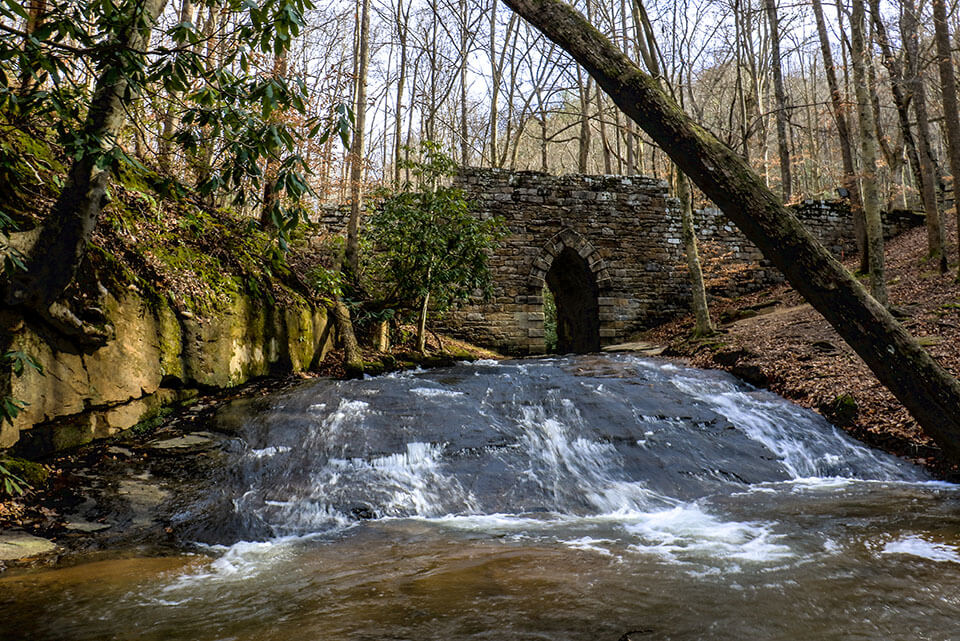 Poinsett Bridge from Downstream