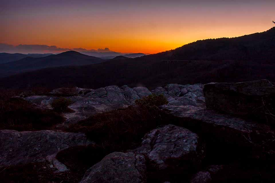 Sunset from the Summit of Rough Ridge