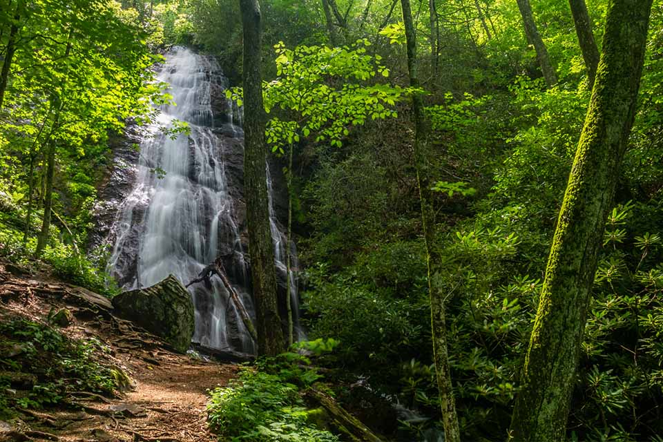 Rufus Morgan Falls with Trail