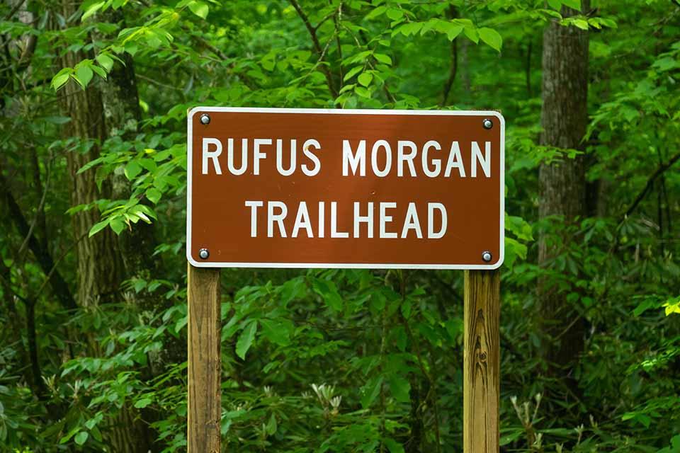 Rufus Morgan Falls Trailhead Sign