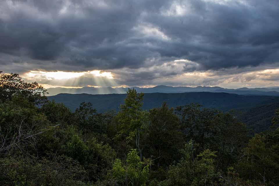 Sunset from the Summit of Sassafras Mountain