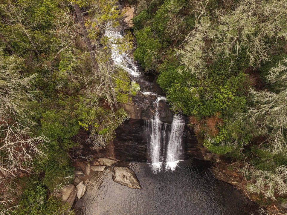 Looking Down at Silver Run Falls