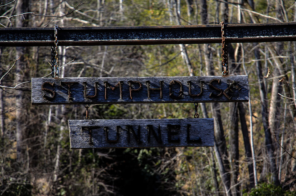 The Stumphouse Tunnel Sign