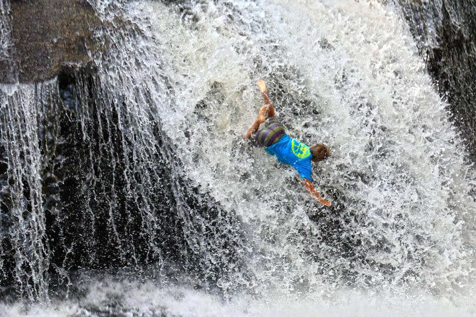 Riding Turtleback Falls