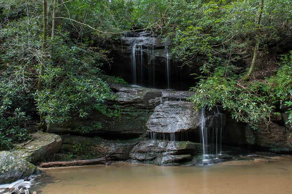 An Unnamed Waterfall on the Trail to Bid Bradley F