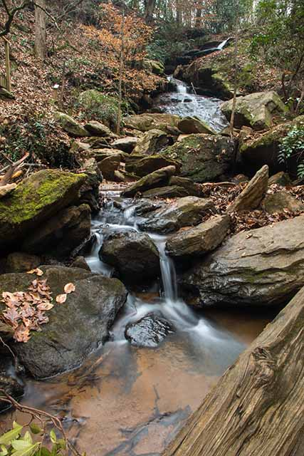 Downstream of Waldrop Stone Falls