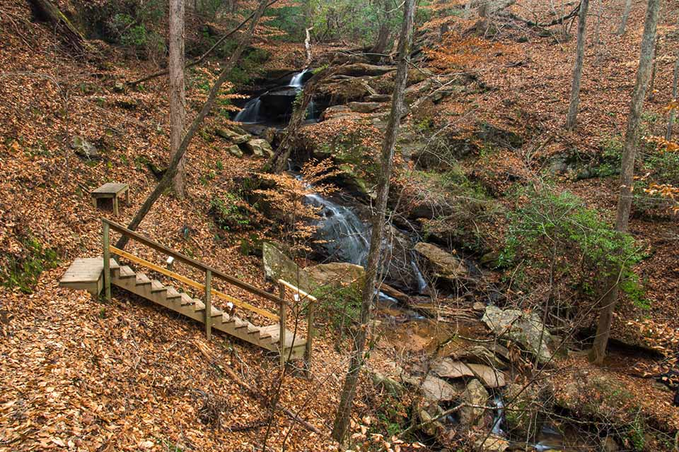 Stairs Leading Down to Waldrop Stone Falls