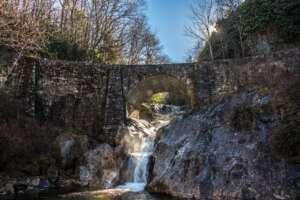 Sunburst Falls of Highway 215 in North Carolina