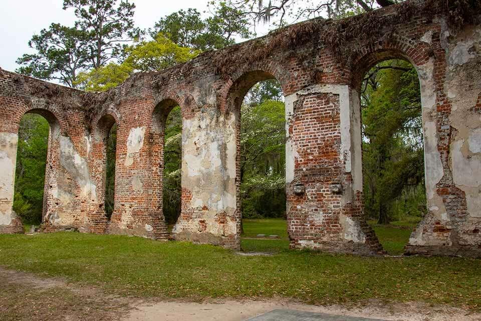 Sheldon Church Ruins Inside