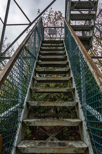 Albert Mountain Fire Tower Stairs