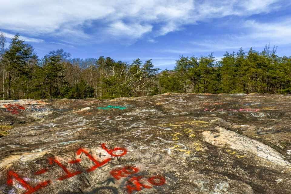 Bald Rock Graffiti