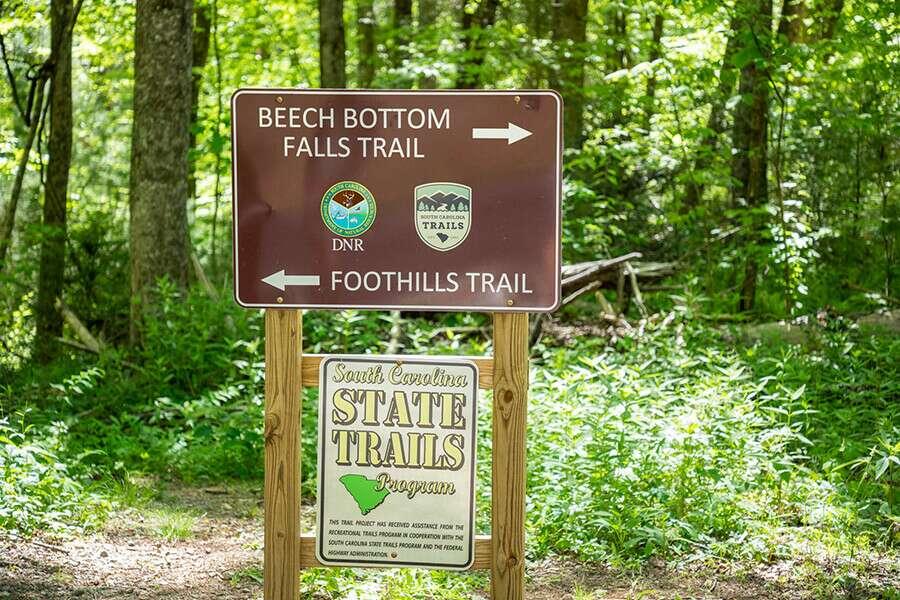 Beech Bottom Falls Road Sign