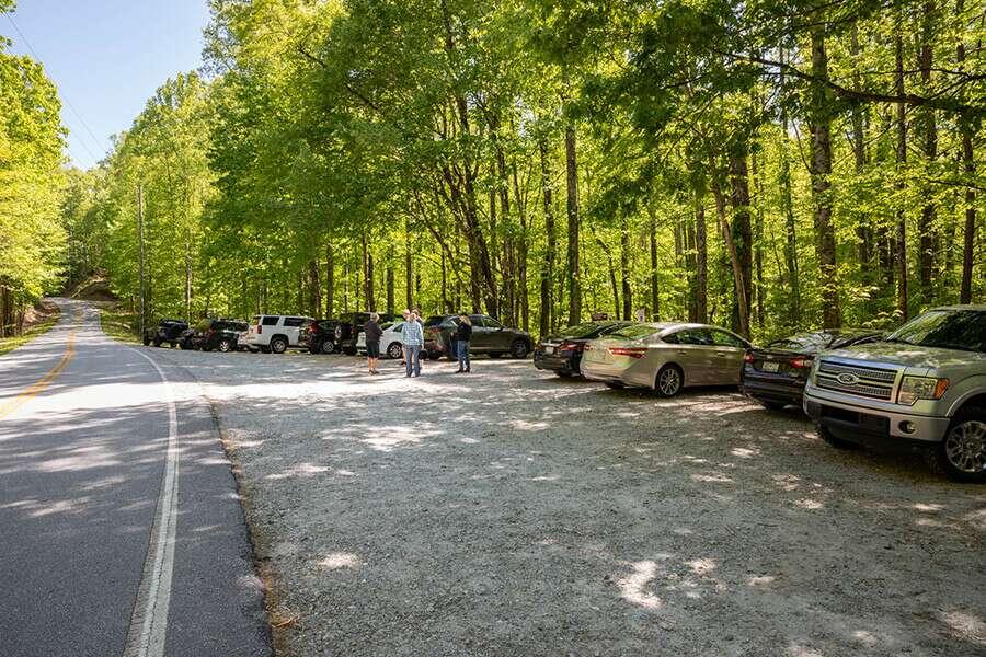 Beech Bottom Falls Parking Lot