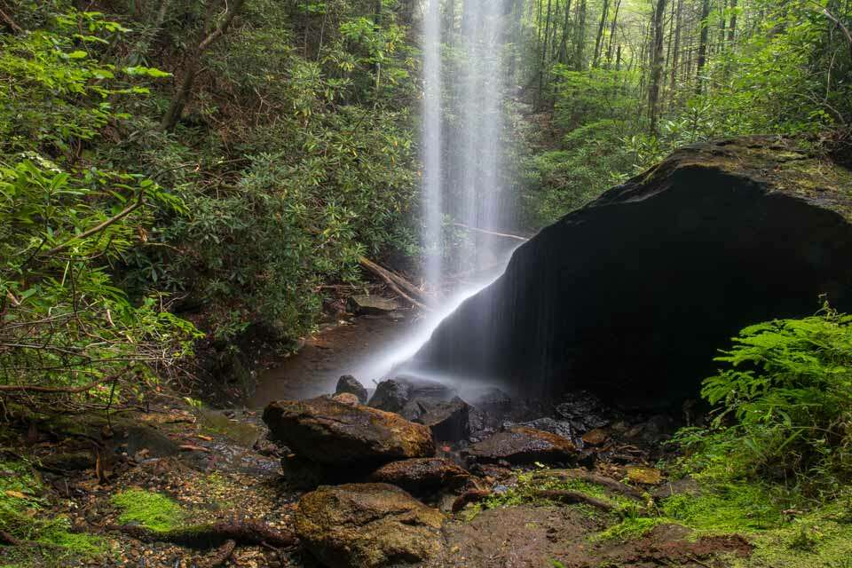 Behind Moonshine Falls