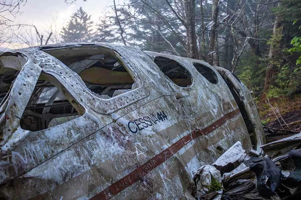 Browning Knob Plane Wreckage