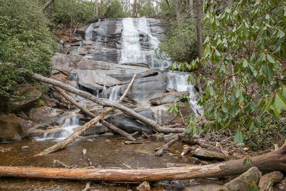 Cove Creek Falls with Person