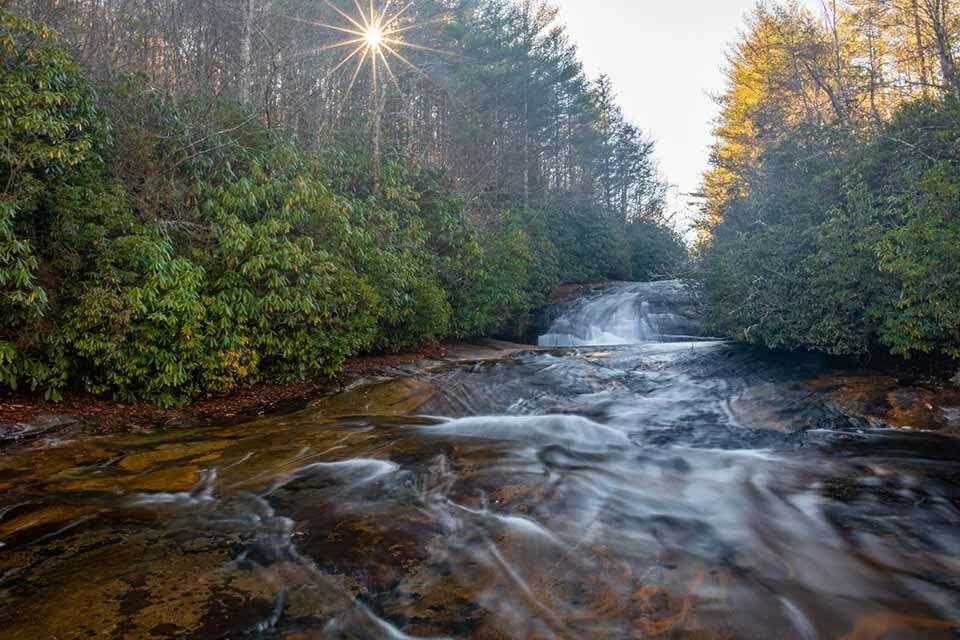 Granny Burrell Falls With Cascade