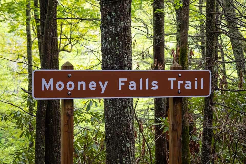Mooney Falls Road Sign