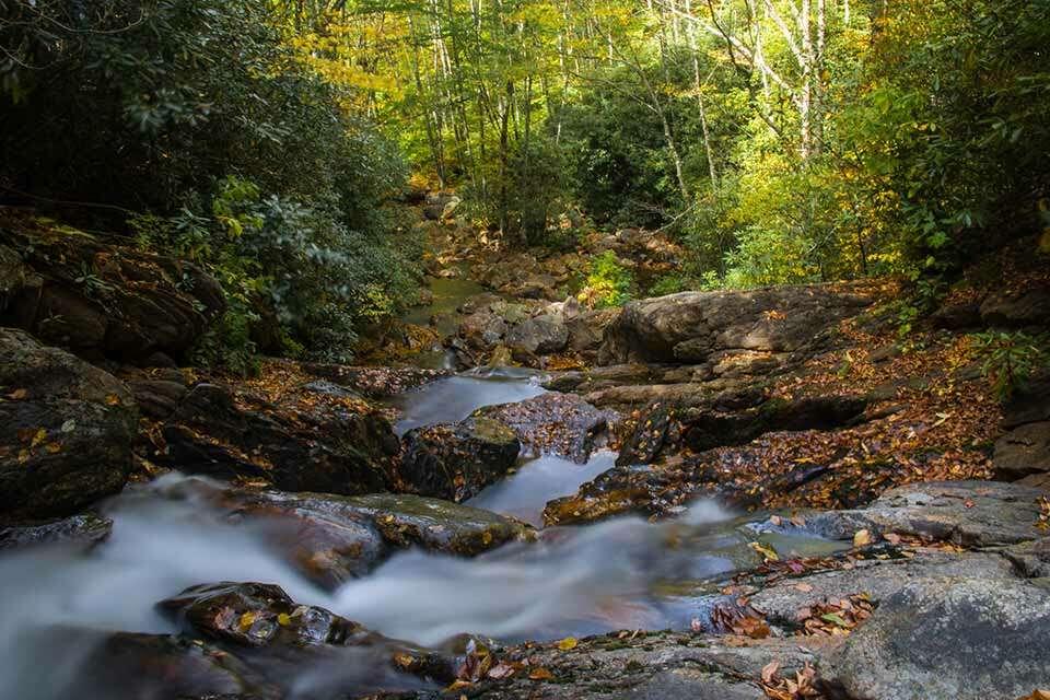 Sam Branch Falls Cascade