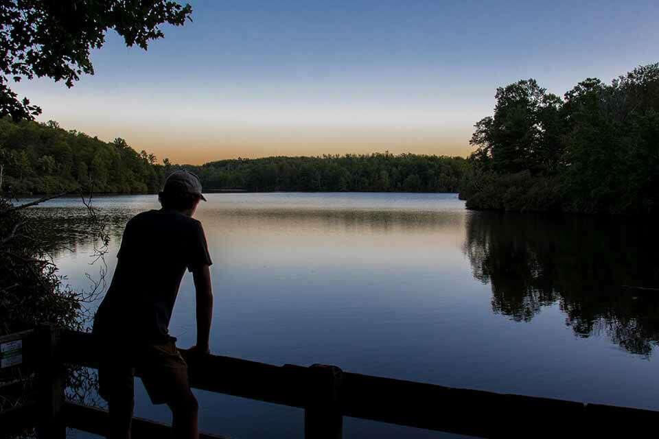 Sunset at Price Lake